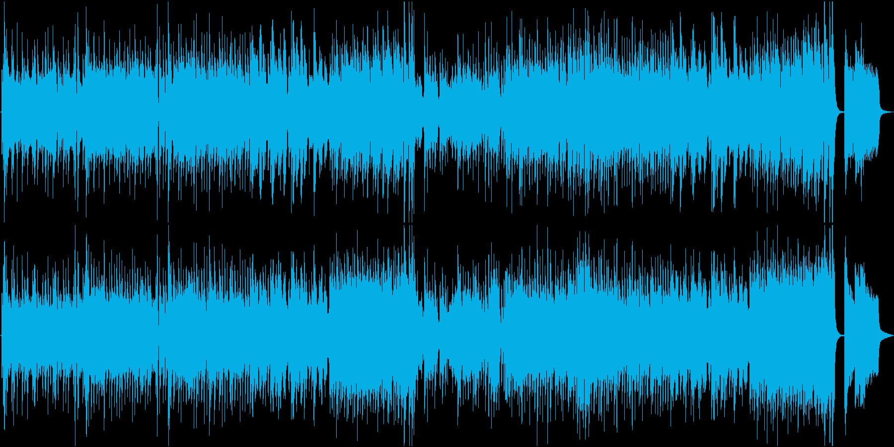夜のクールな酒場_管楽器主体のジャズの再生済みの波形