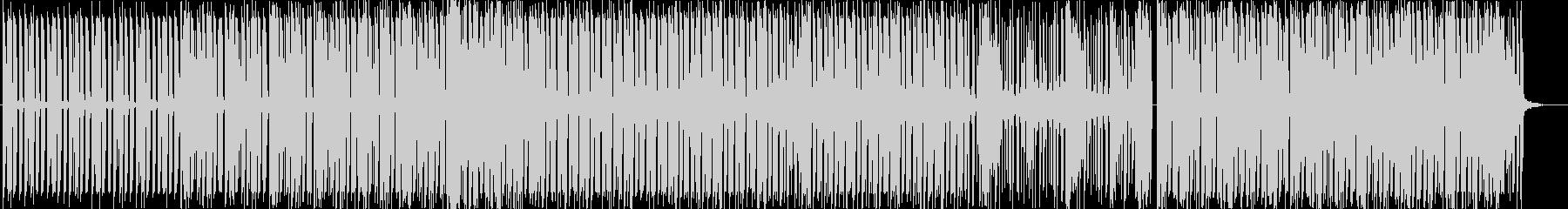 スタイリッシュで前向きなエレクトロBGMの未再生の波形