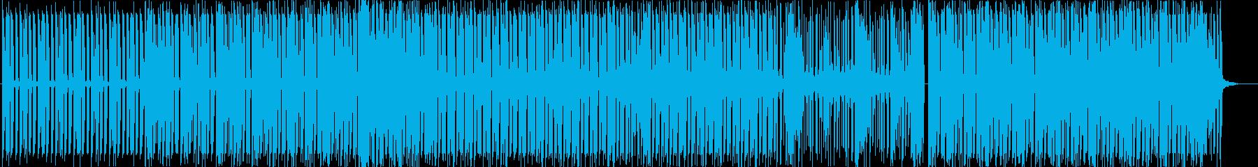 スタイリッシュで前向きなエレクトロBGMの再生済みの波形