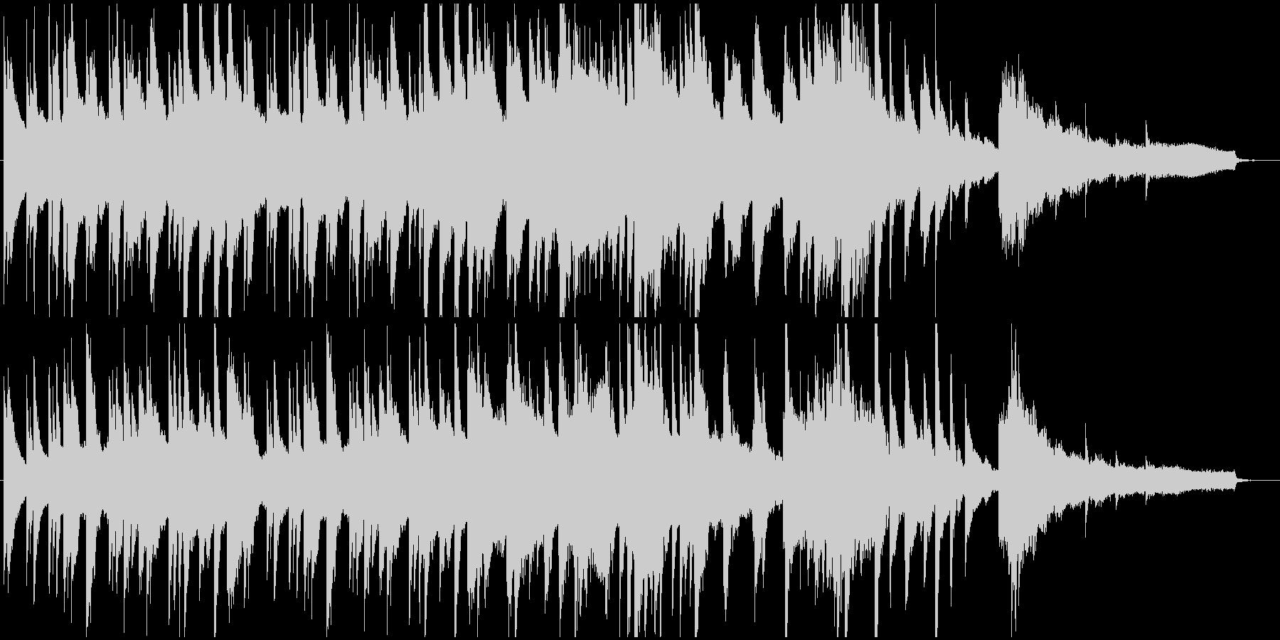 静けさと不思議さのあるピアノ楽曲の未再生の波形