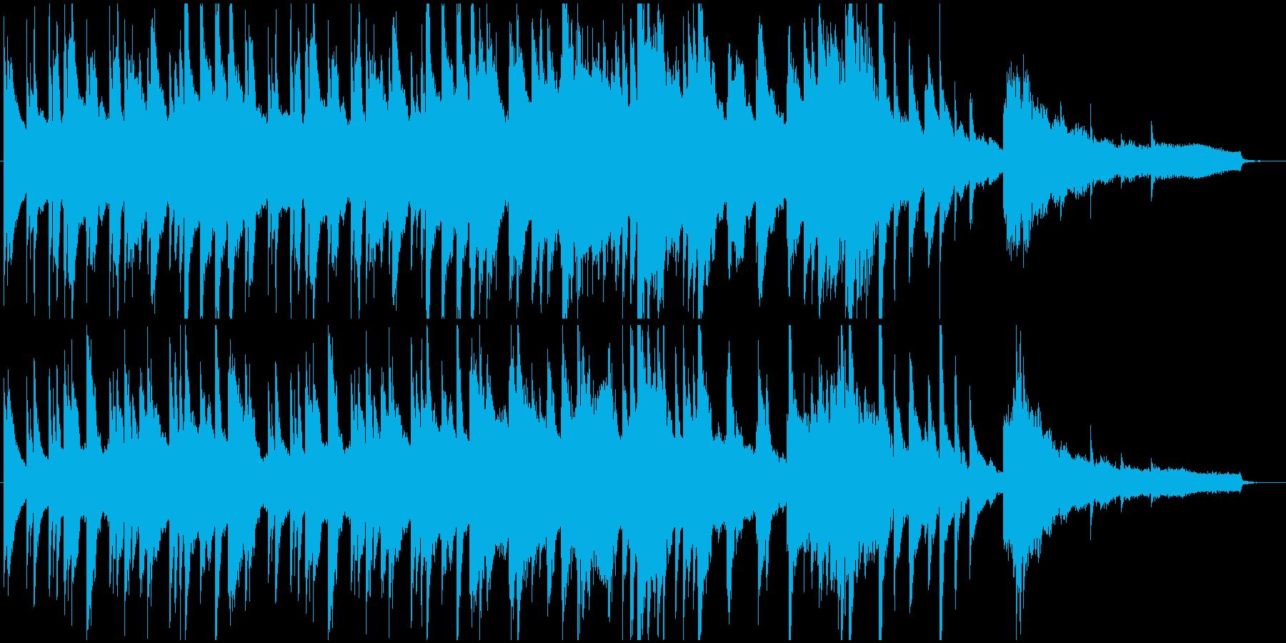 静けさと不思議さのあるピアノ楽曲の再生済みの波形