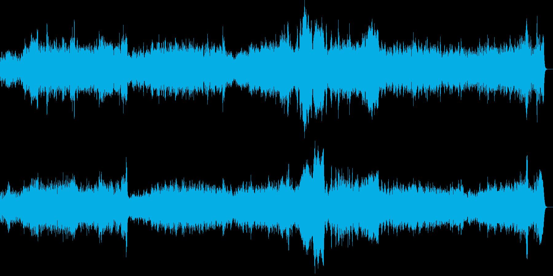 2台のオルガンの曲(バッハ)の再生済みの波形