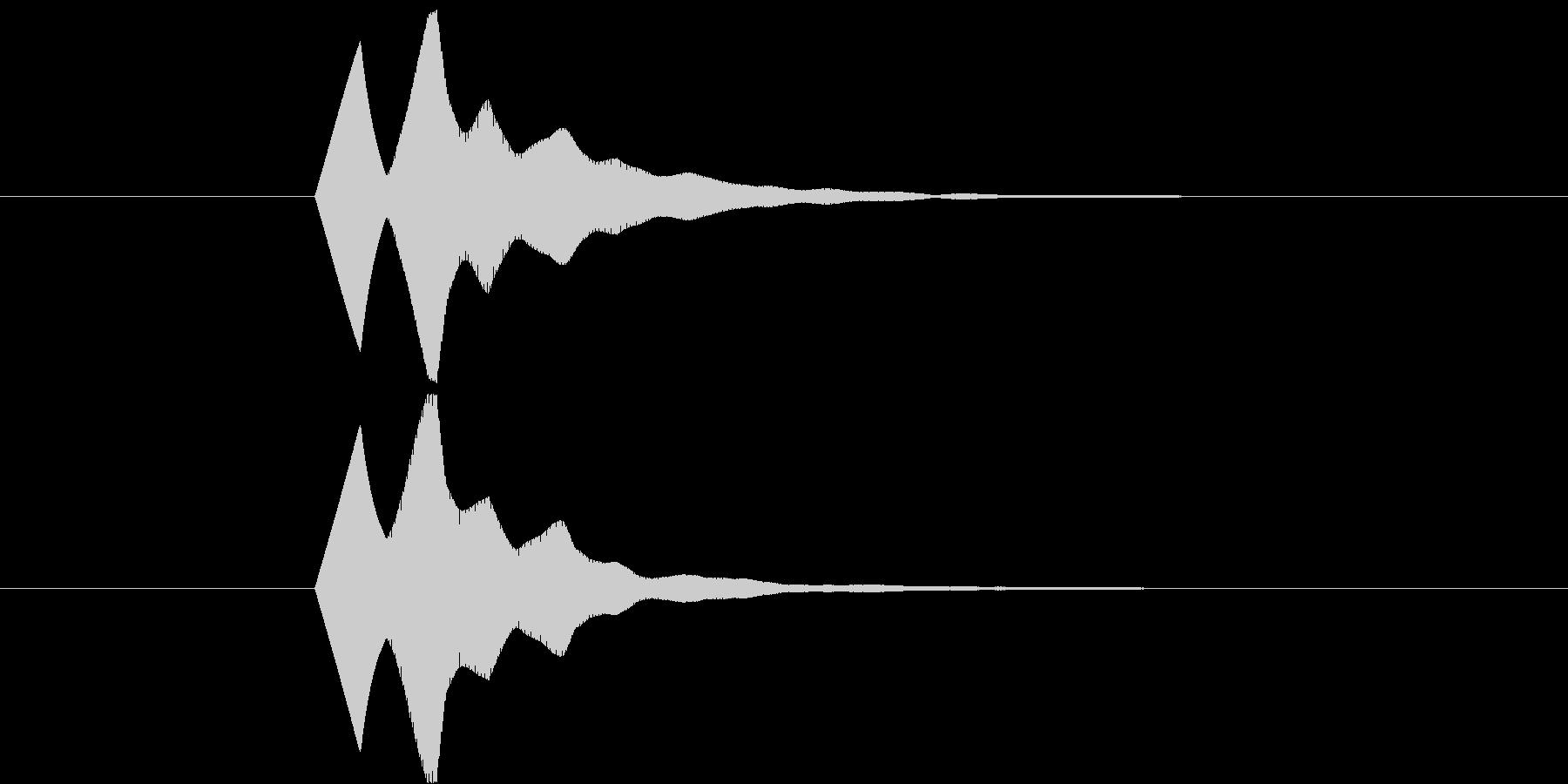 ソフトで無機質なボタン Bの未再生の波形