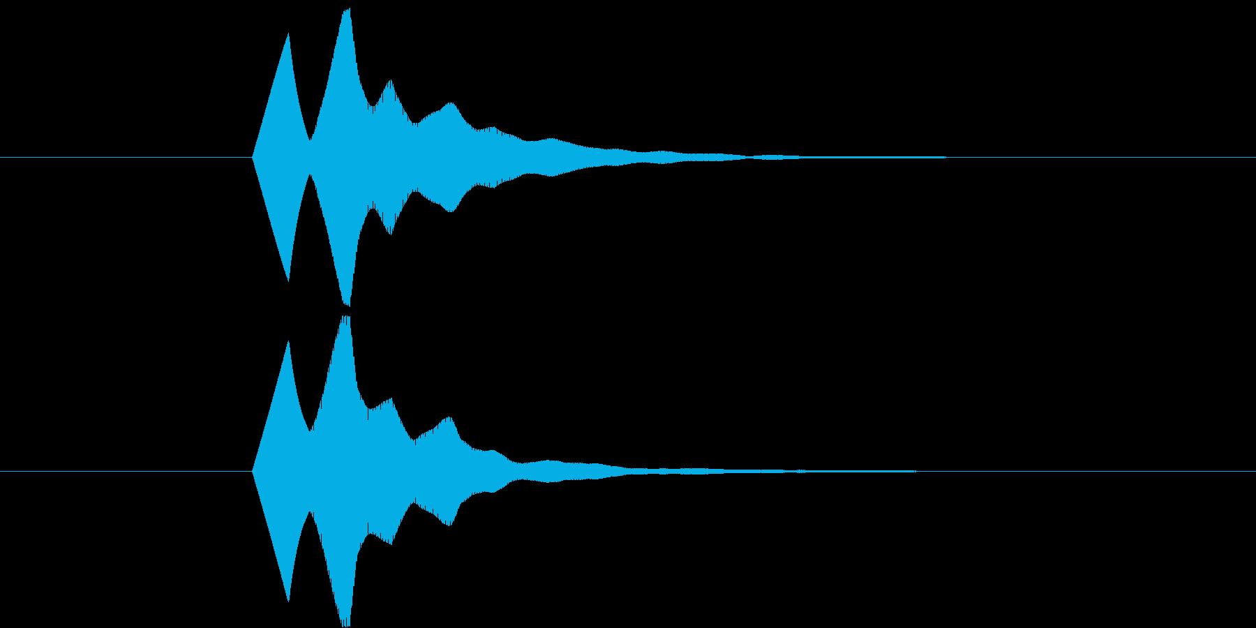 ソフトで無機質なボタン Bの再生済みの波形