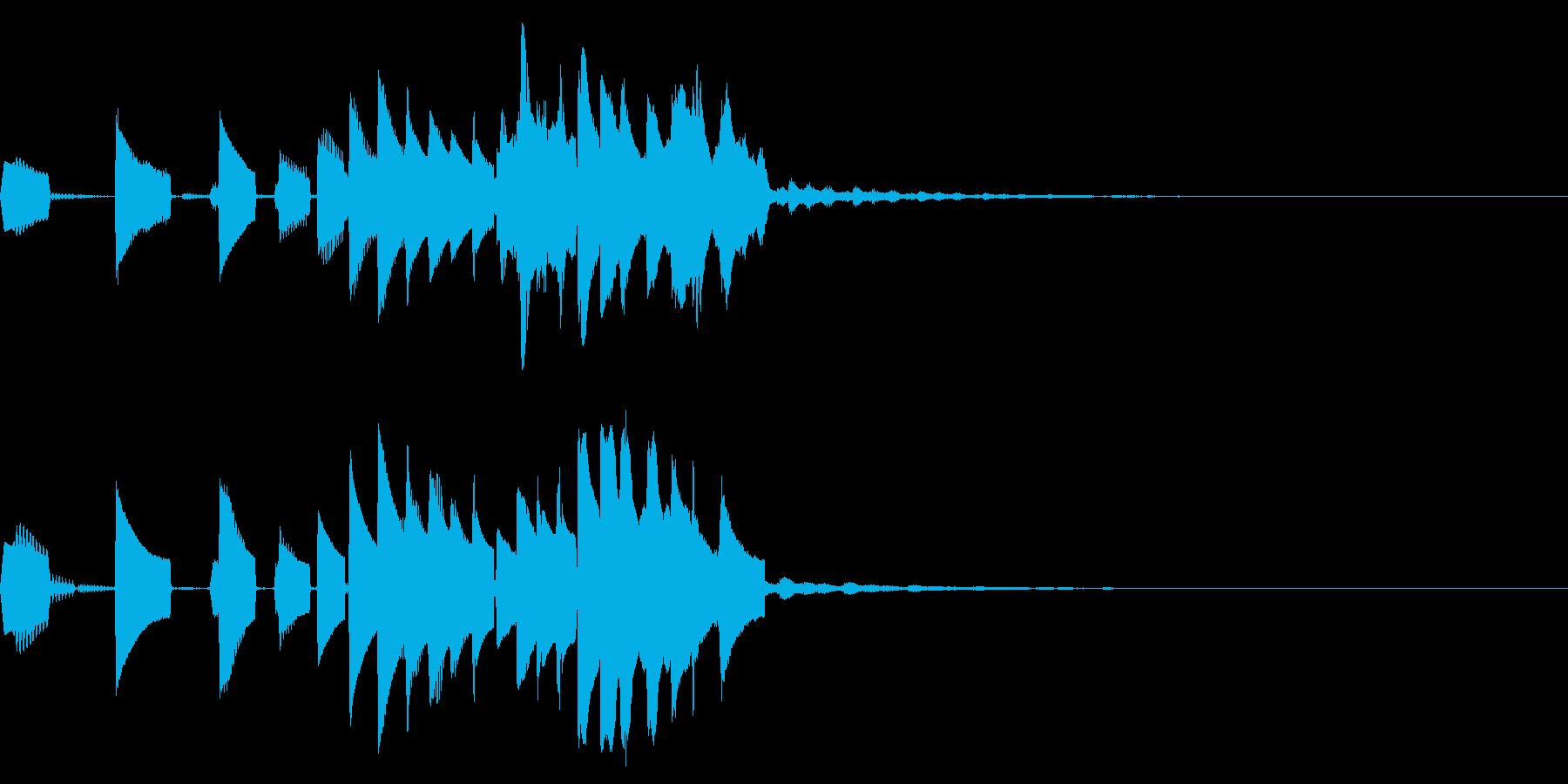 仮装大賞風の上昇音階~メジャー~の再生済みの波形
