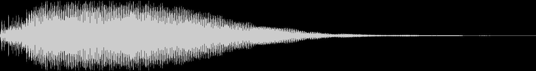 宇宙感漂う機械的な音の未再生の波形