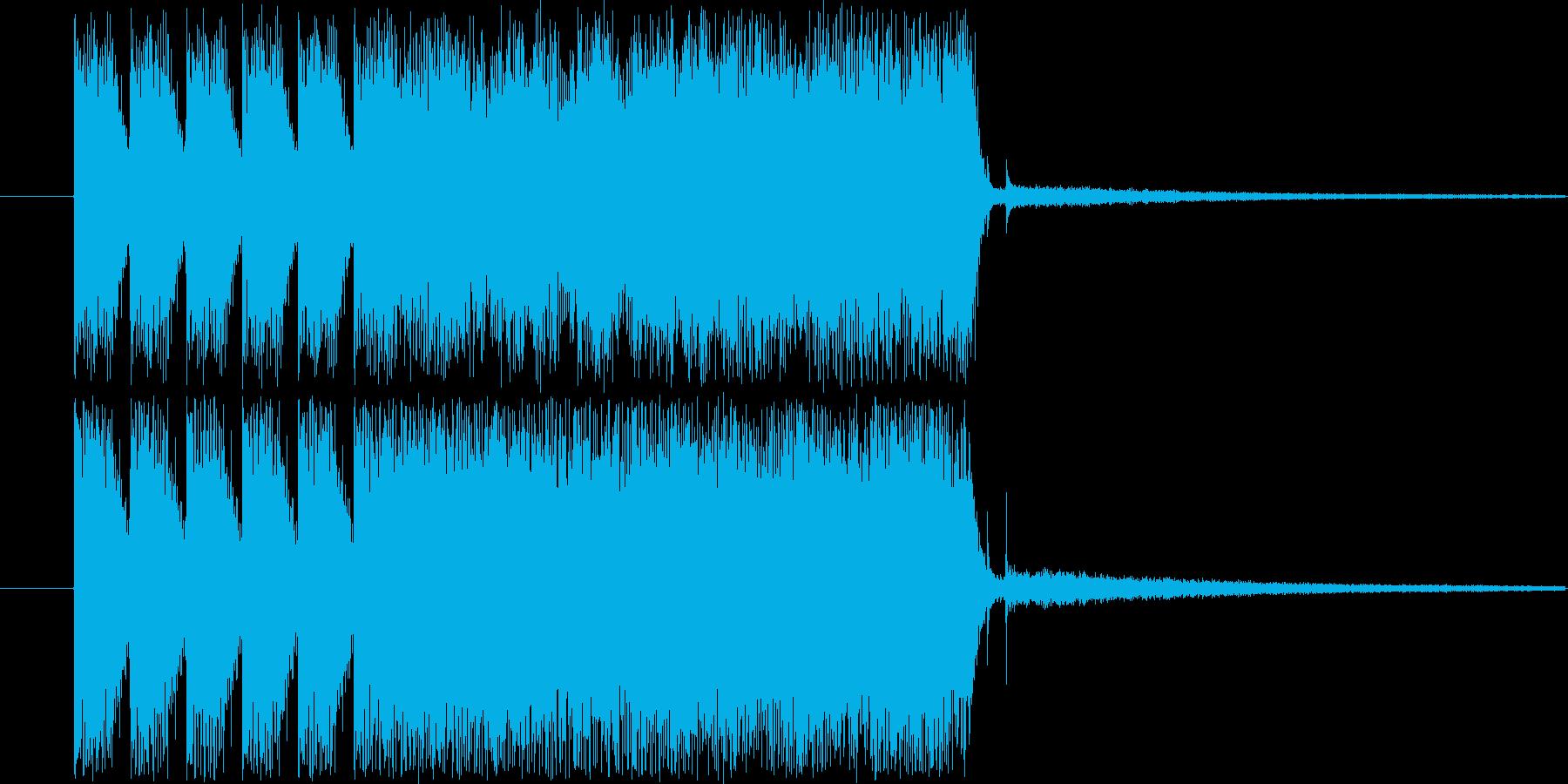 シンセサイザージングルの再生済みの波形
