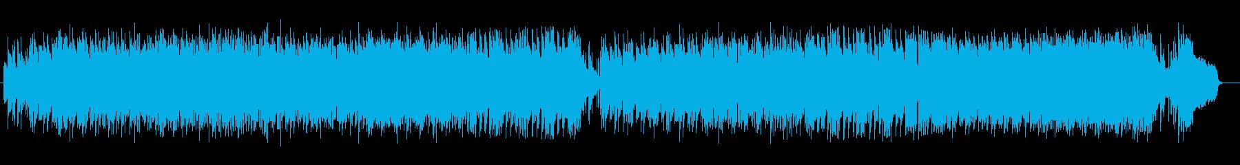 シンセサイザーの陽気なポップスの再生済みの波形