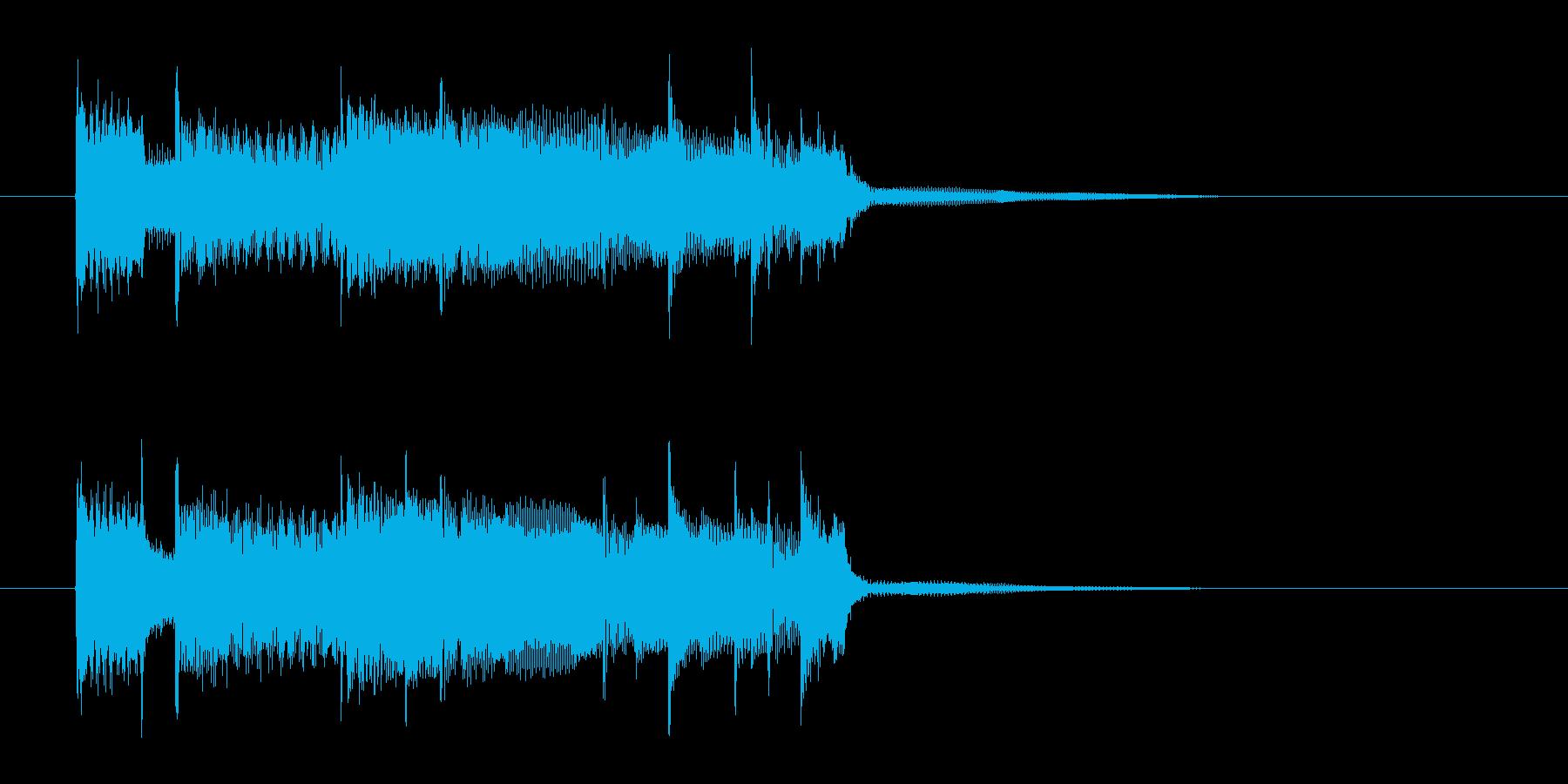 明るくおしゃれなギターサウンド(短め)の再生済みの波形