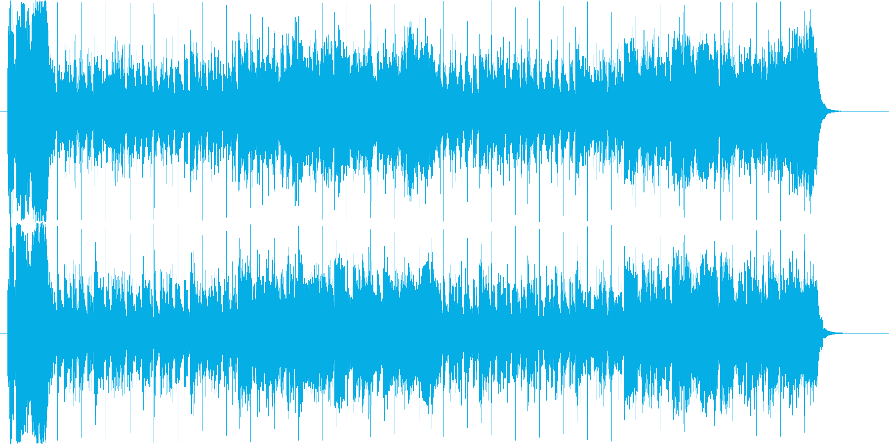 RPGなどのレベルアップをイメージした…の再生済みの波形