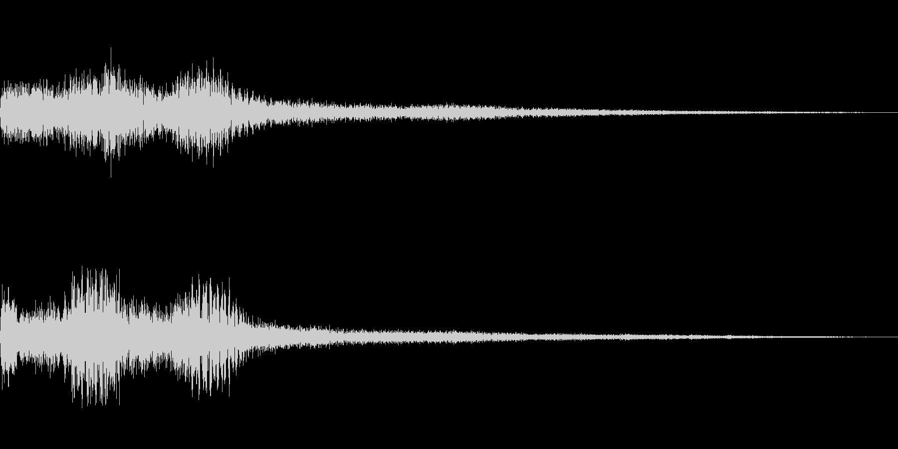 [タララン]選択音(明るく落ち着く)の未再生の波形