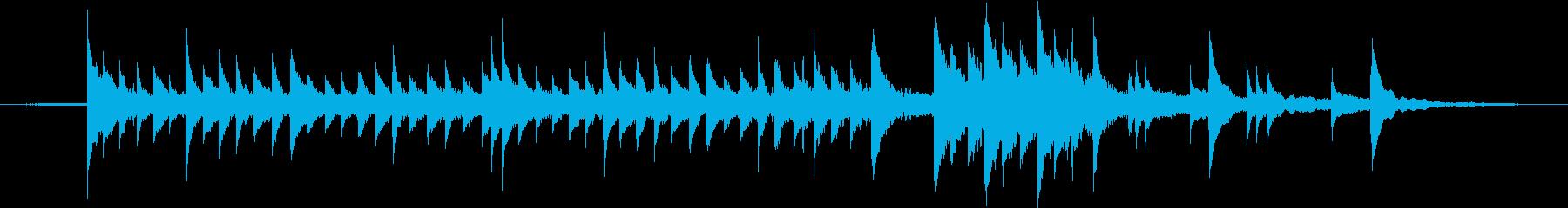 優しく静かな、森に響くようなピアノ曲の再生済みの波形
