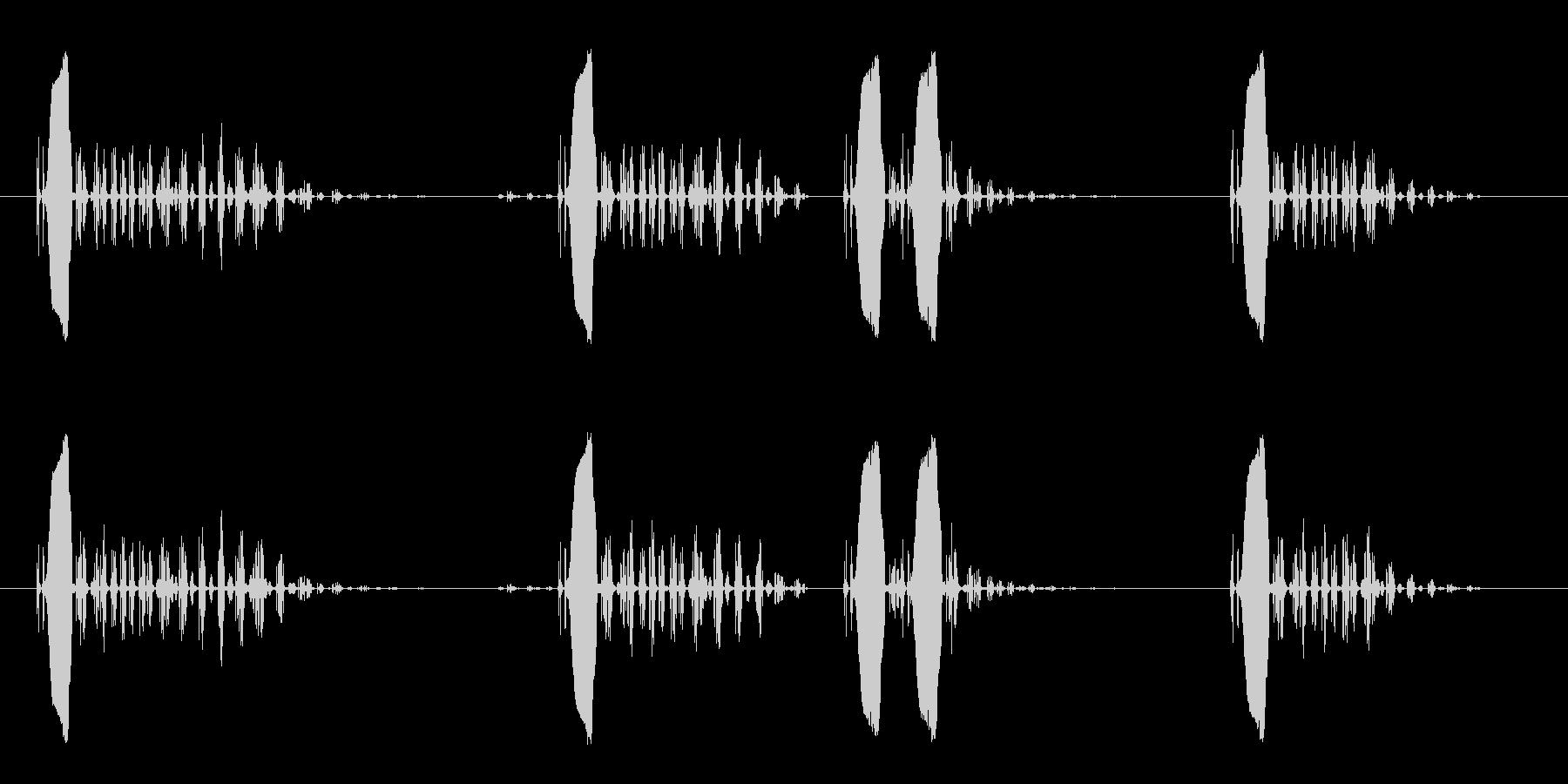 小鳥の鳴き声の効果音の未再生の波形