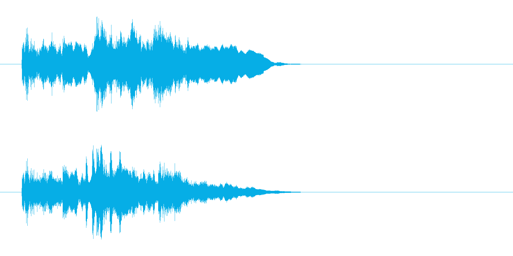 ジングル/アタック(アコースティック)の再生済みの波形