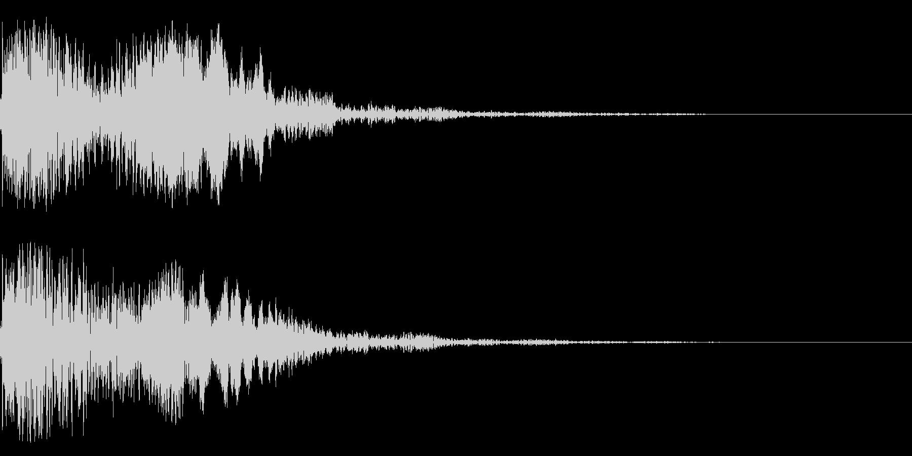 太鼓と尺八の和風インパクトジングル!10の未再生の波形