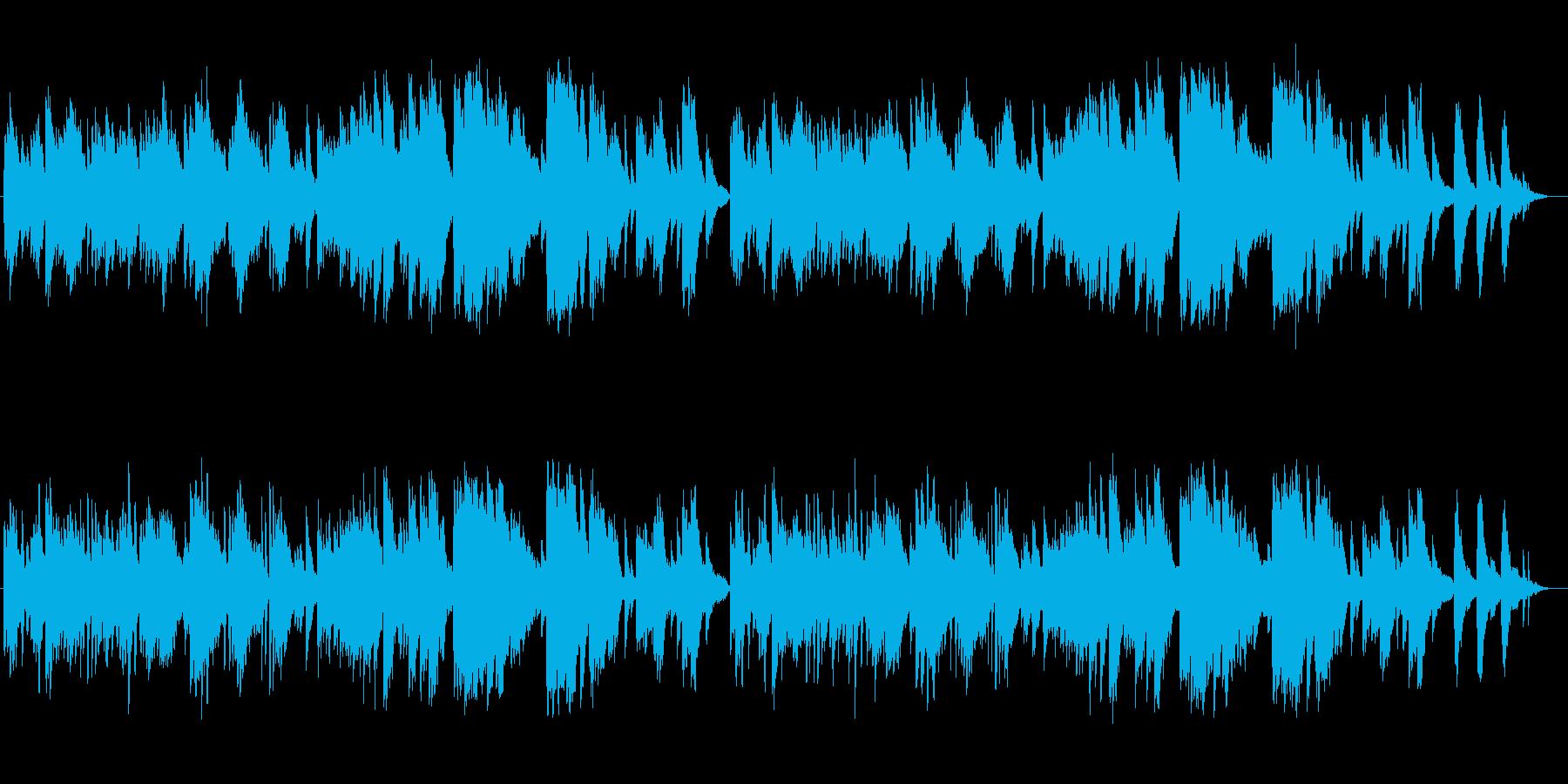 清らかなピアノによるバラードの再生済みの波形
