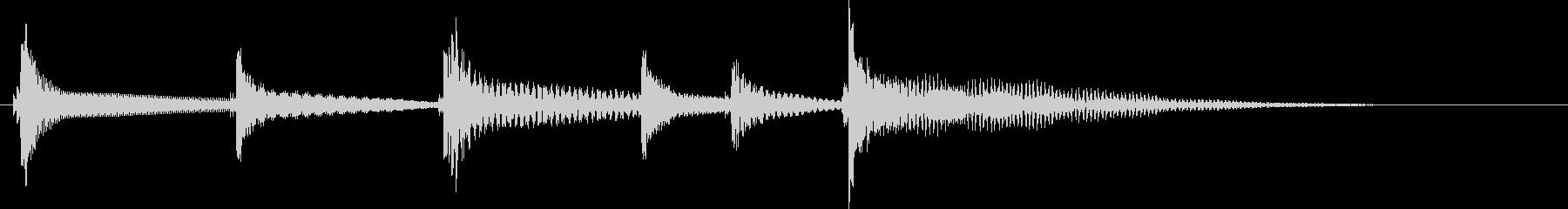 沖縄風ジングル2の未再生の波形