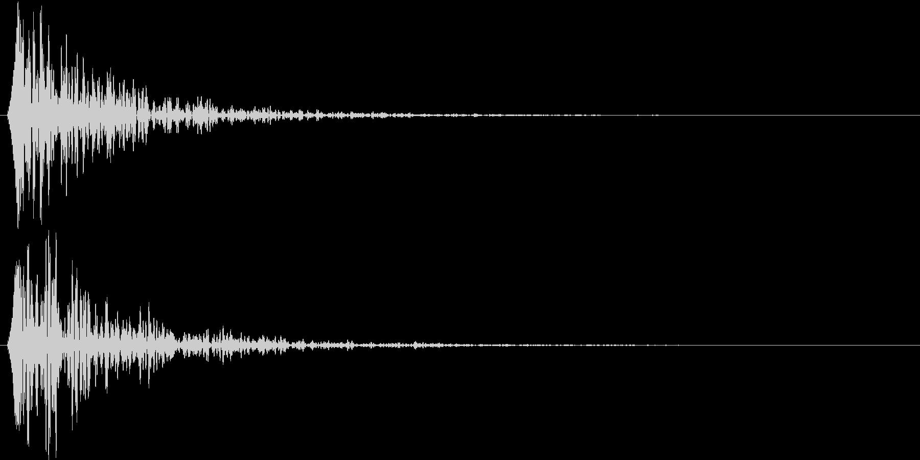 ドーン(登場シーンなどの響く重低音)の未再生の波形