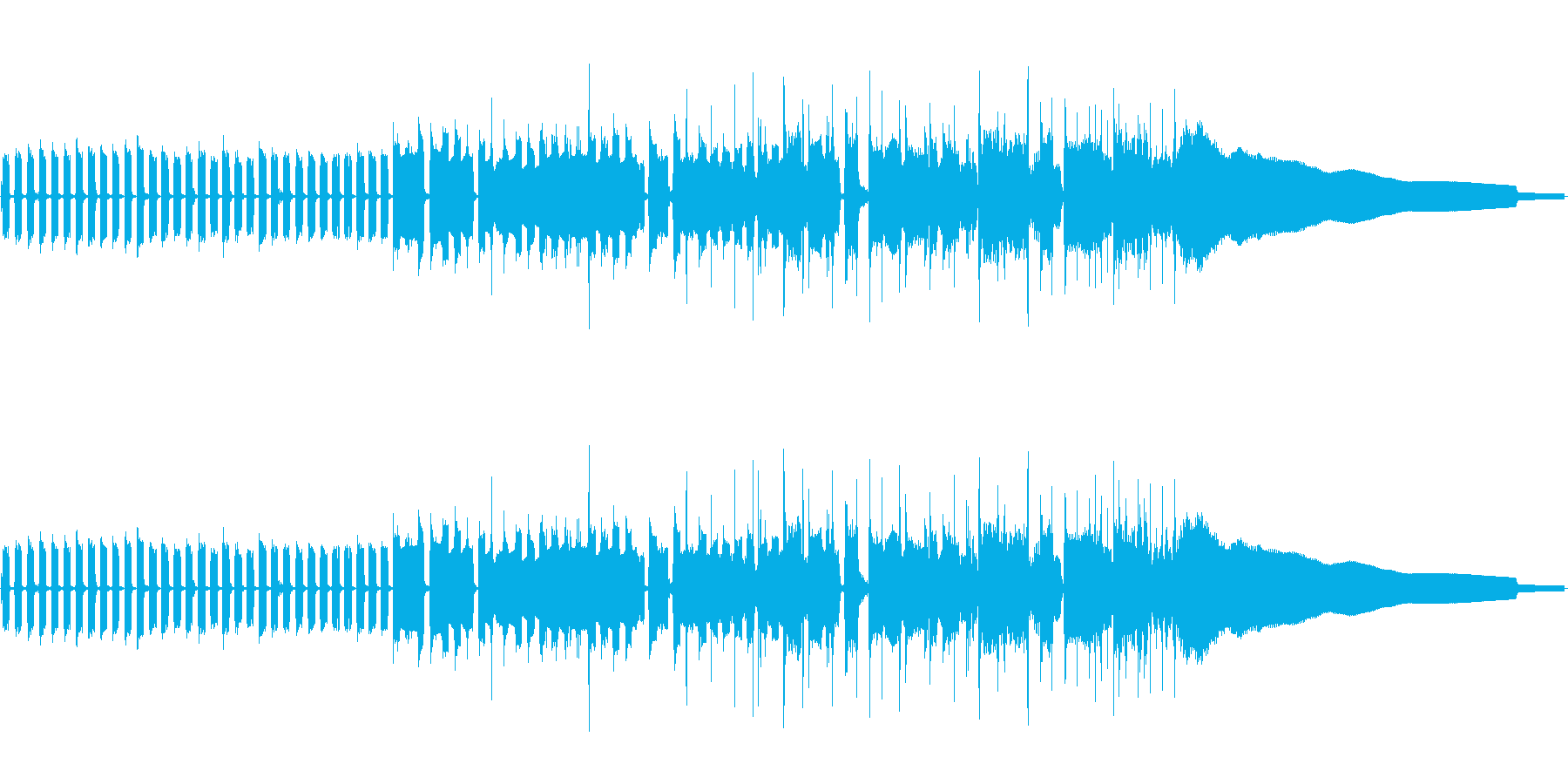 CMなどで使える30秒のBGMの再生済みの波形