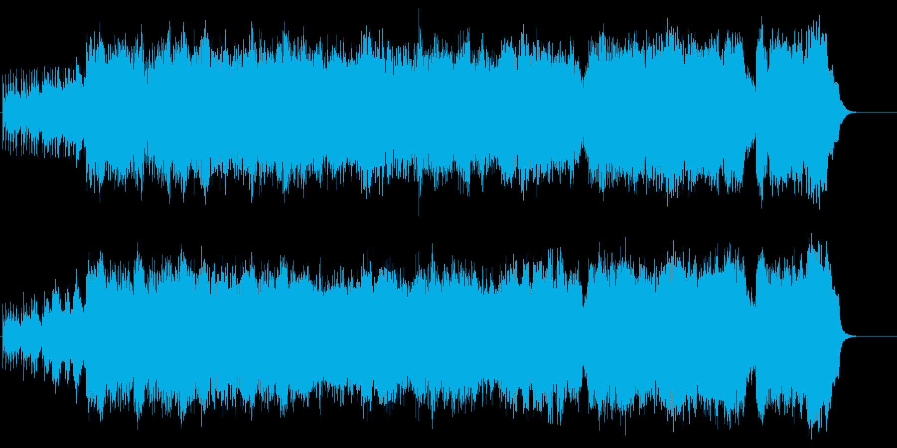 和風幻想曲。喜多郎のような曲の再生済みの波形