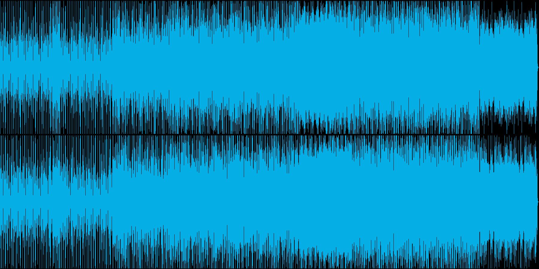 EDM色の徐々に高揚していく曲の再生済みの波形