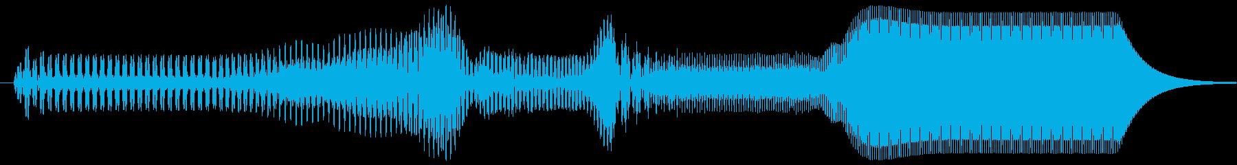 ピュイ。上がる・伸びる音(短)の再生済みの波形