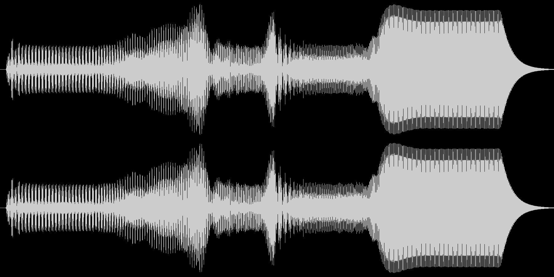 ピュイ。上がる・伸びる音(短)の未再生の波形