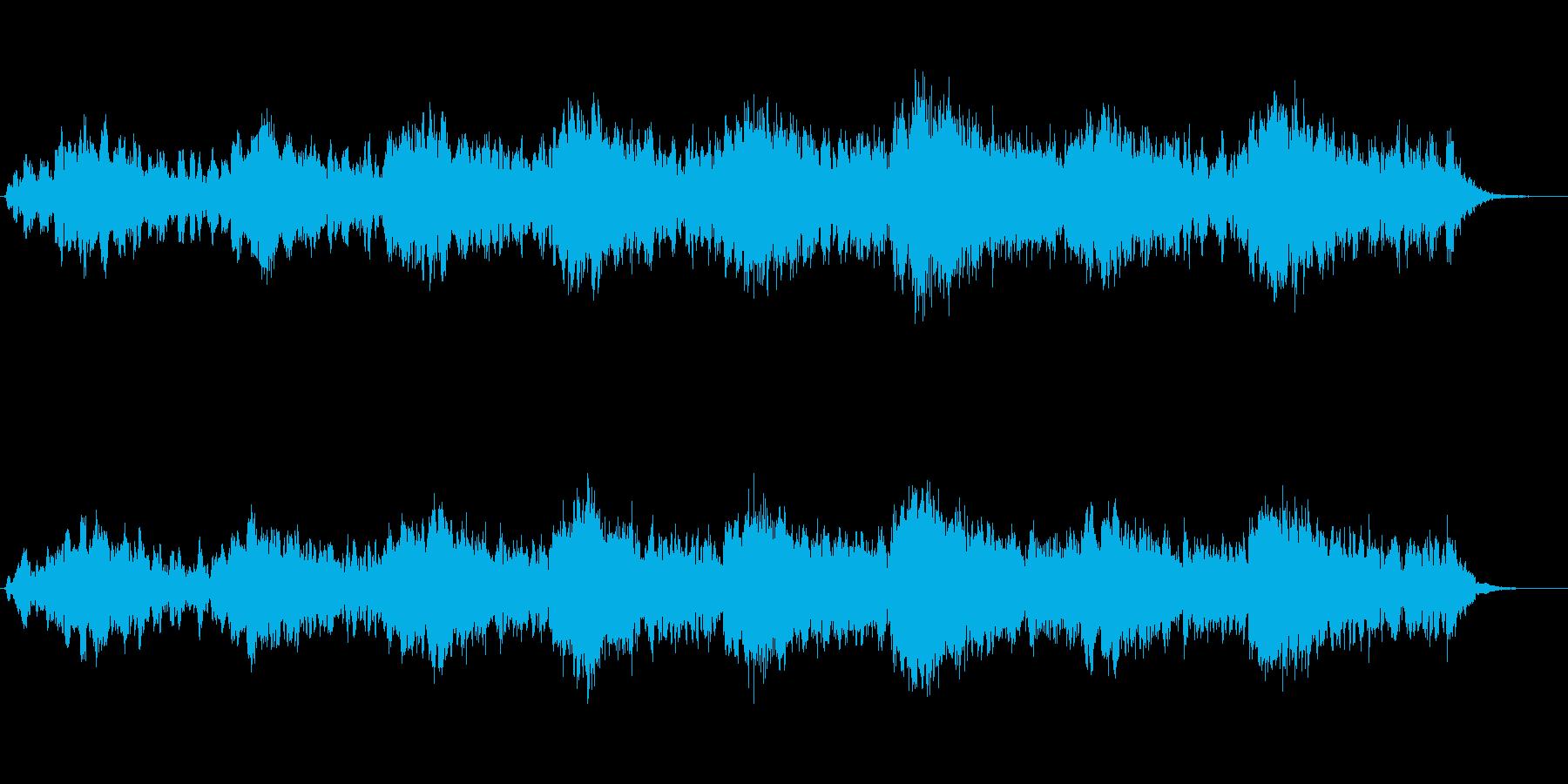 エレピとパッドの幻想的なジングルの再生済みの波形