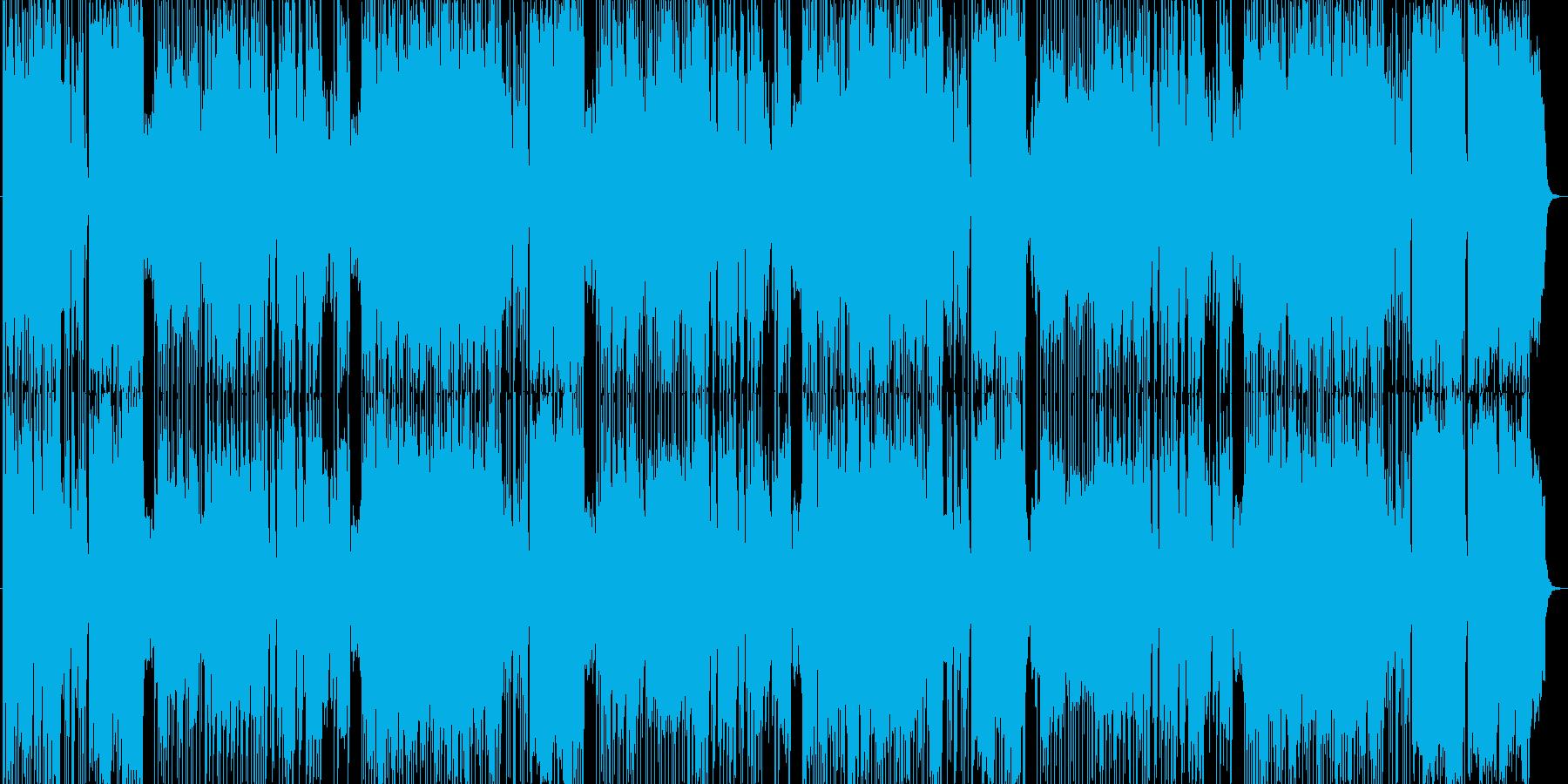ほのぼの軽快な演歌風の楽曲の再生済みの波形