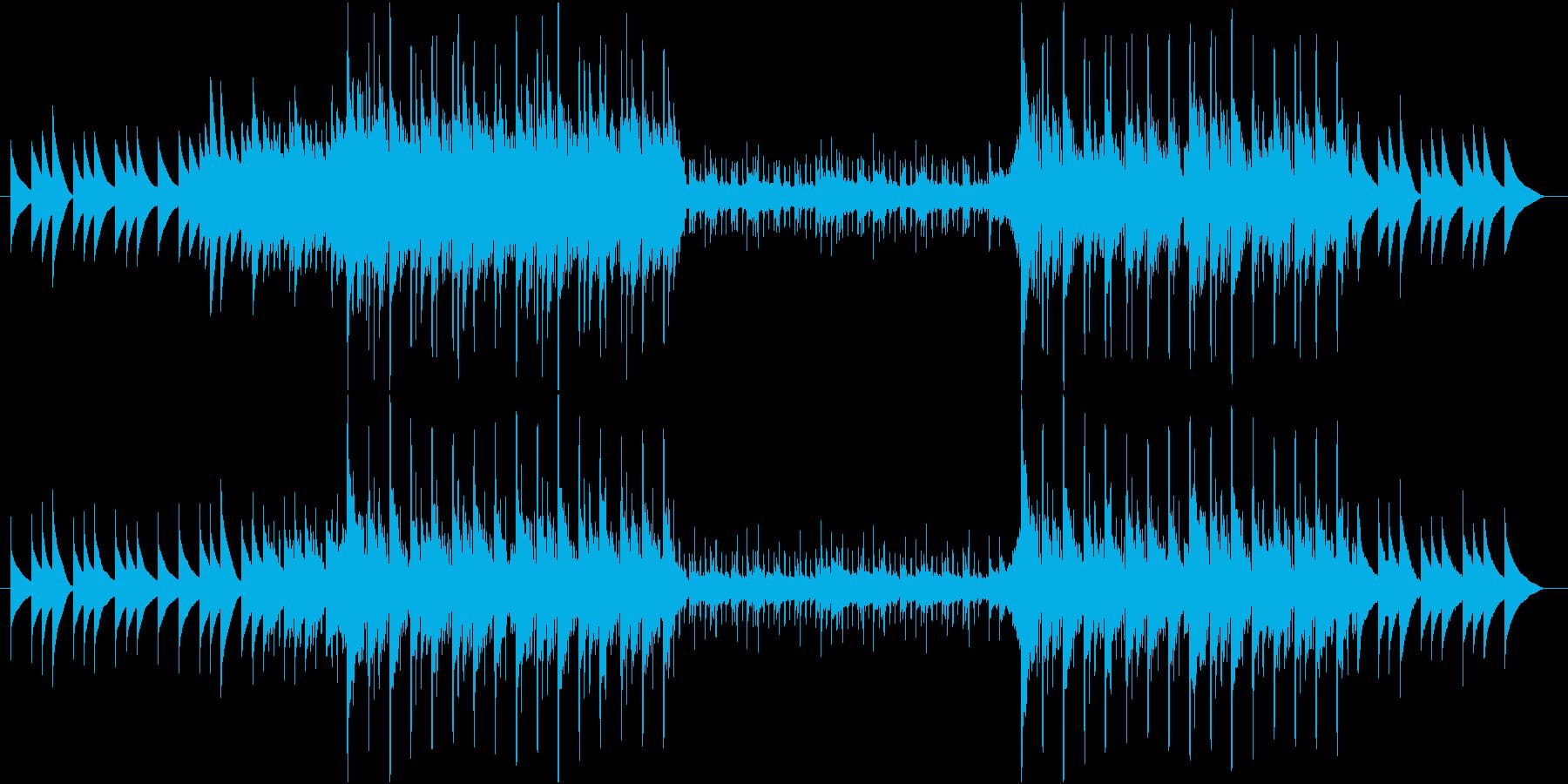 オルゴールのゆったりした音ですの再生済みの波形