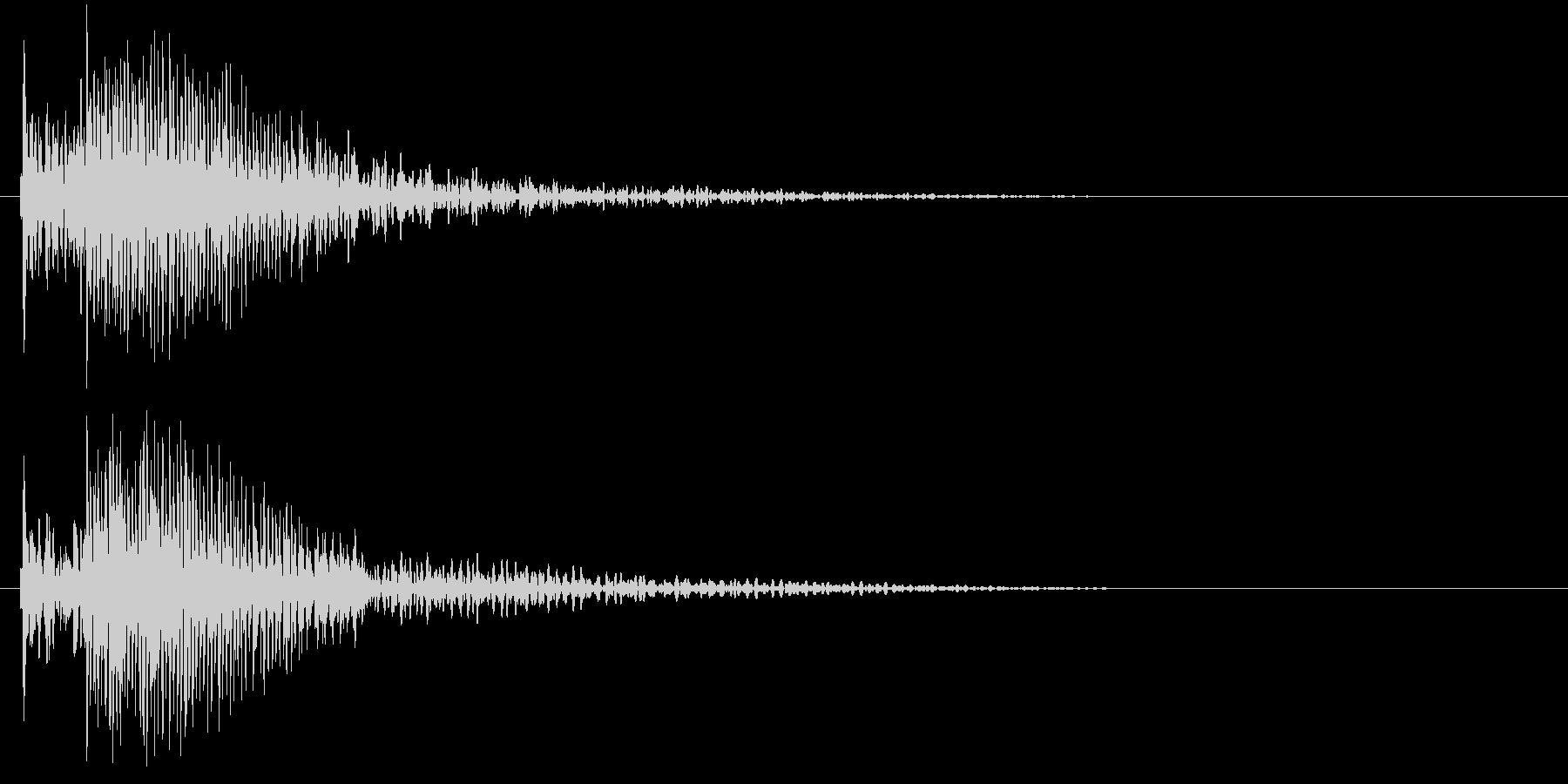 タッチ音 (ドンカーッ!)の未再生の波形