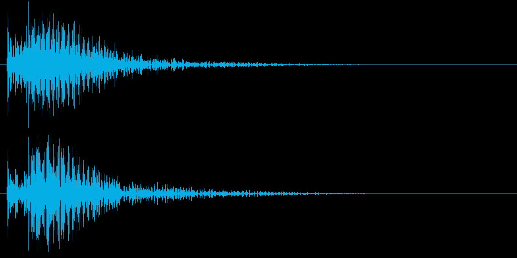 タッチ音 (ドンカーッ!)の再生済みの波形