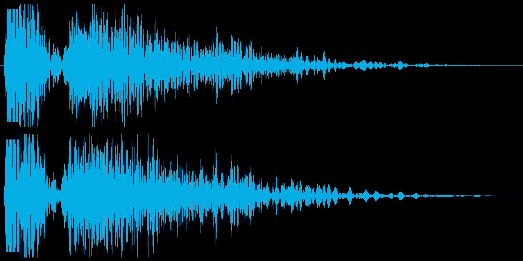 シューン(発射の音)の再生済みの波形