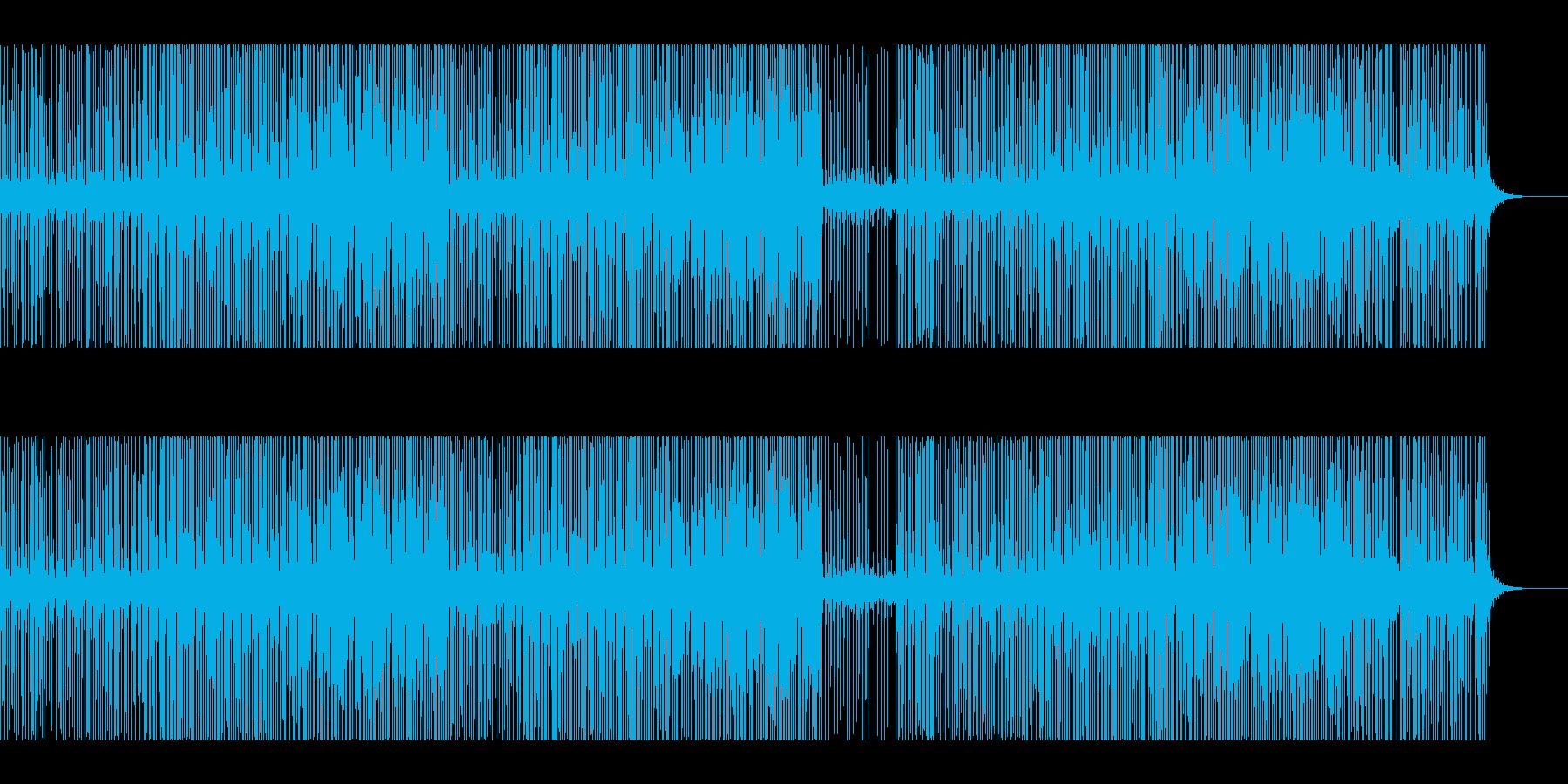 ノリやすいクラブ系ハウスミュージックの再生済みの波形