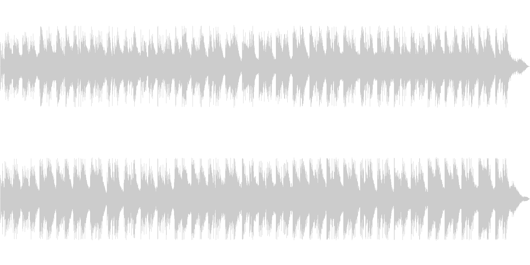 アコースティックな構成のアンビエントの未再生の波形