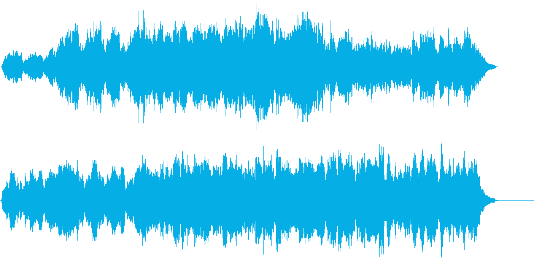 シンプルなストリングスBGMの再生済みの波形