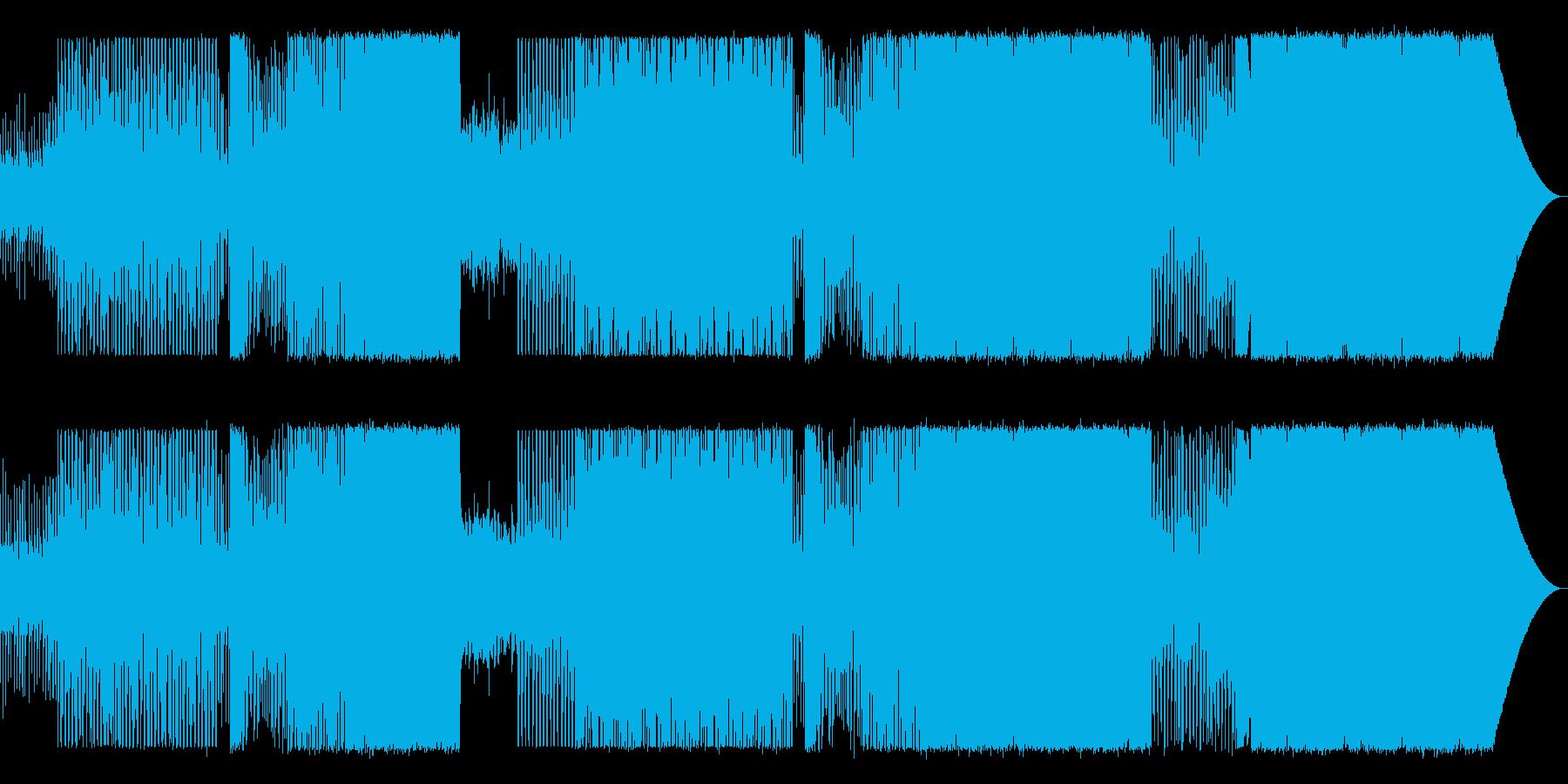 90年代風EDMの再生済みの波形