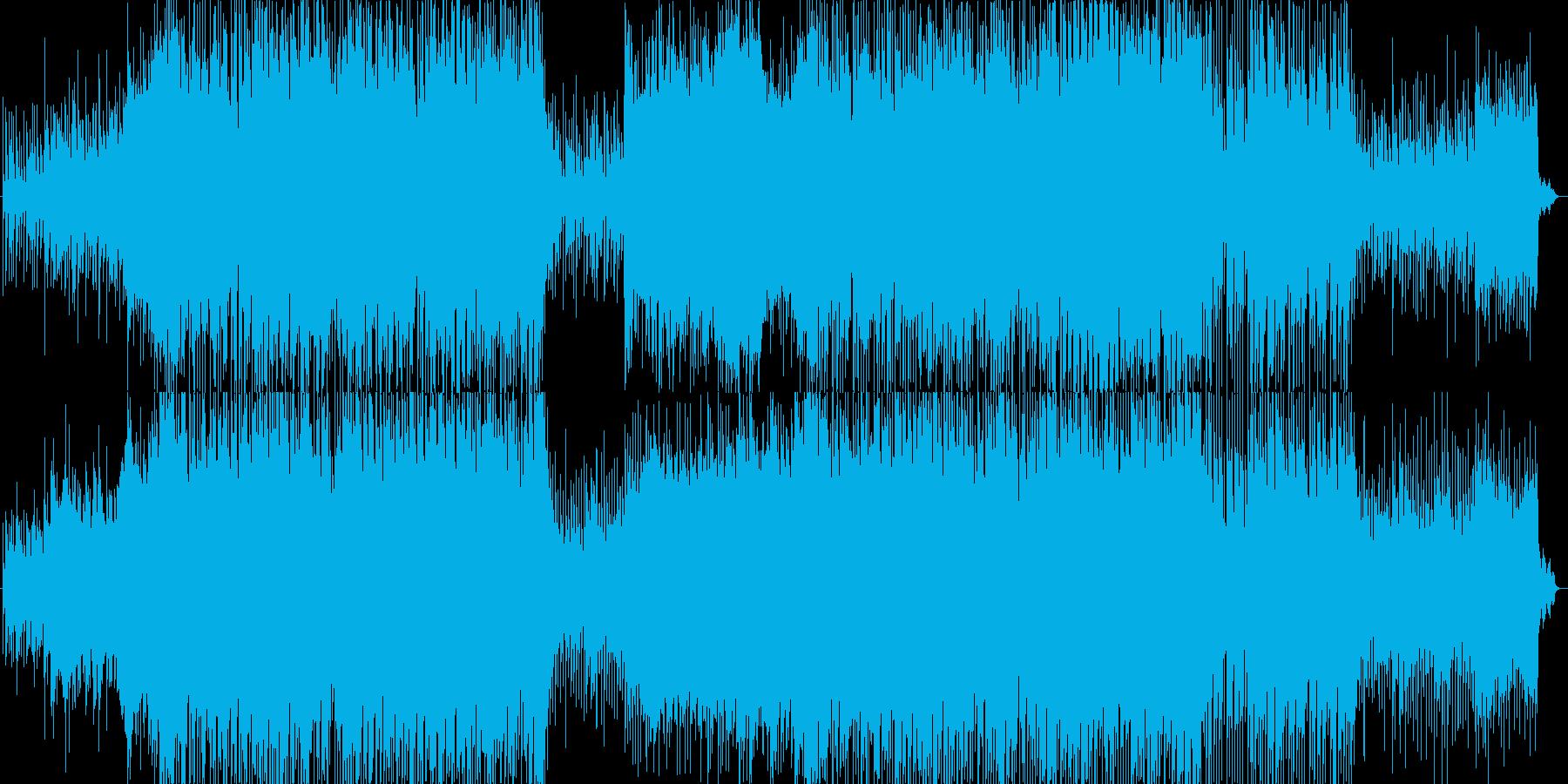 報道番組OPなどに向いた軽快で爽やかな曲の再生済みの波形