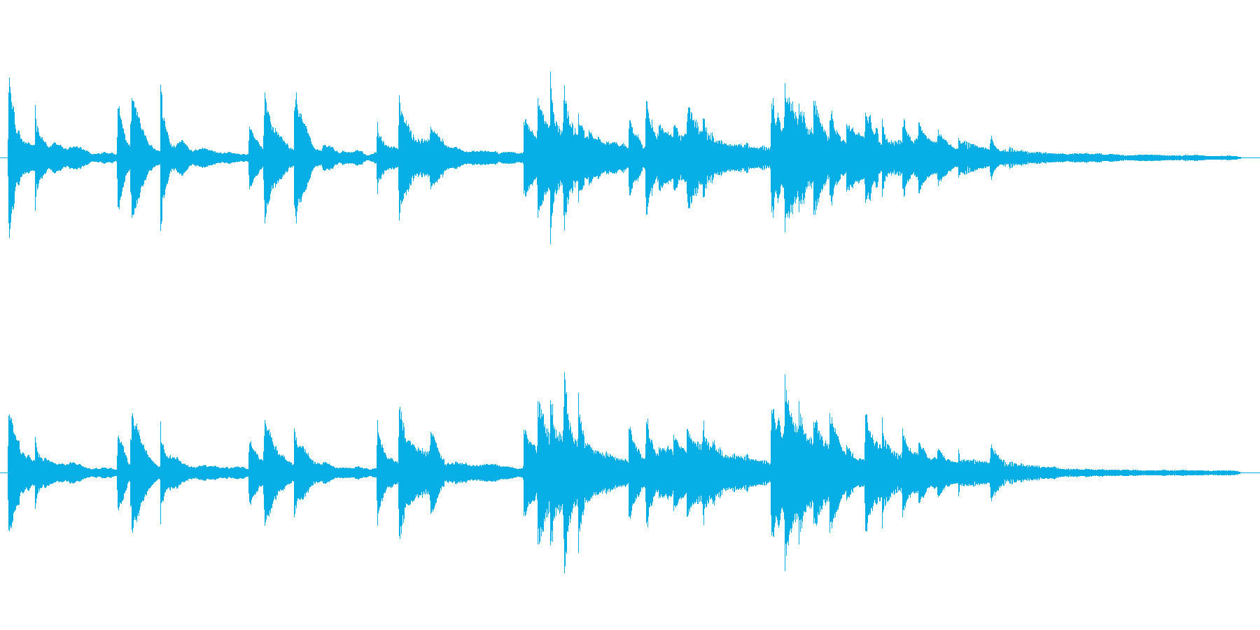 回想シーンに合うピアノソロの再生済みの波形