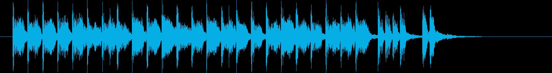 軽快で優しいシンセポップジングルの再生済みの波形