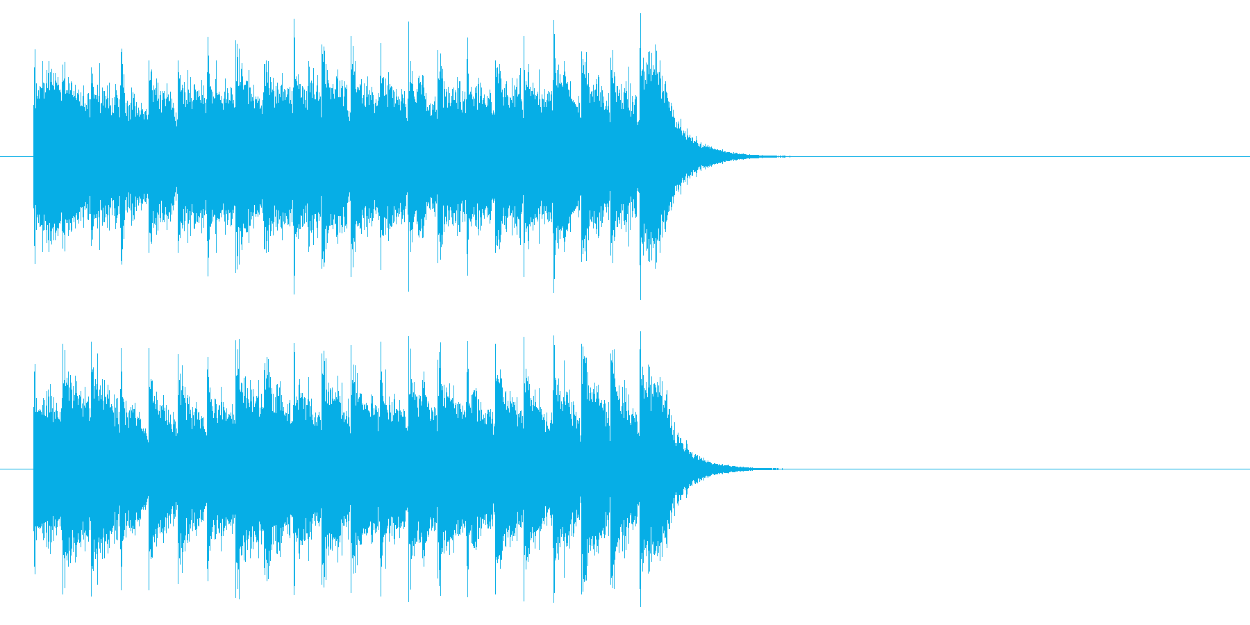 ジングル(カズー入り)の再生済みの波形