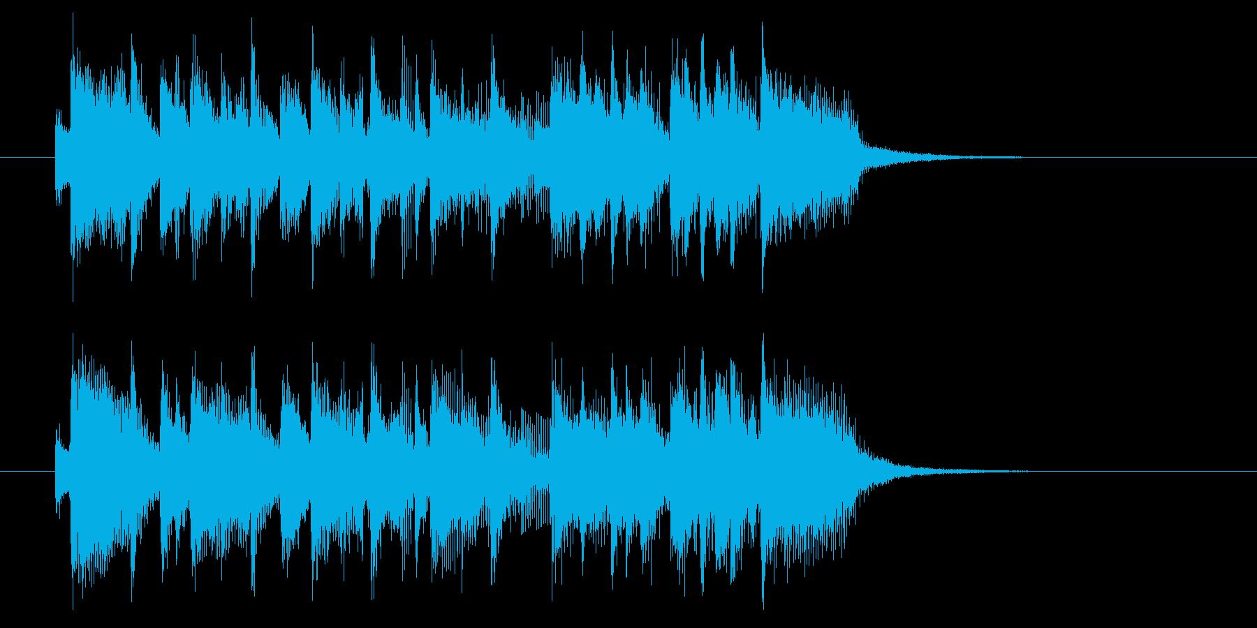 スピーディーでクールなシンセジングルの再生済みの波形