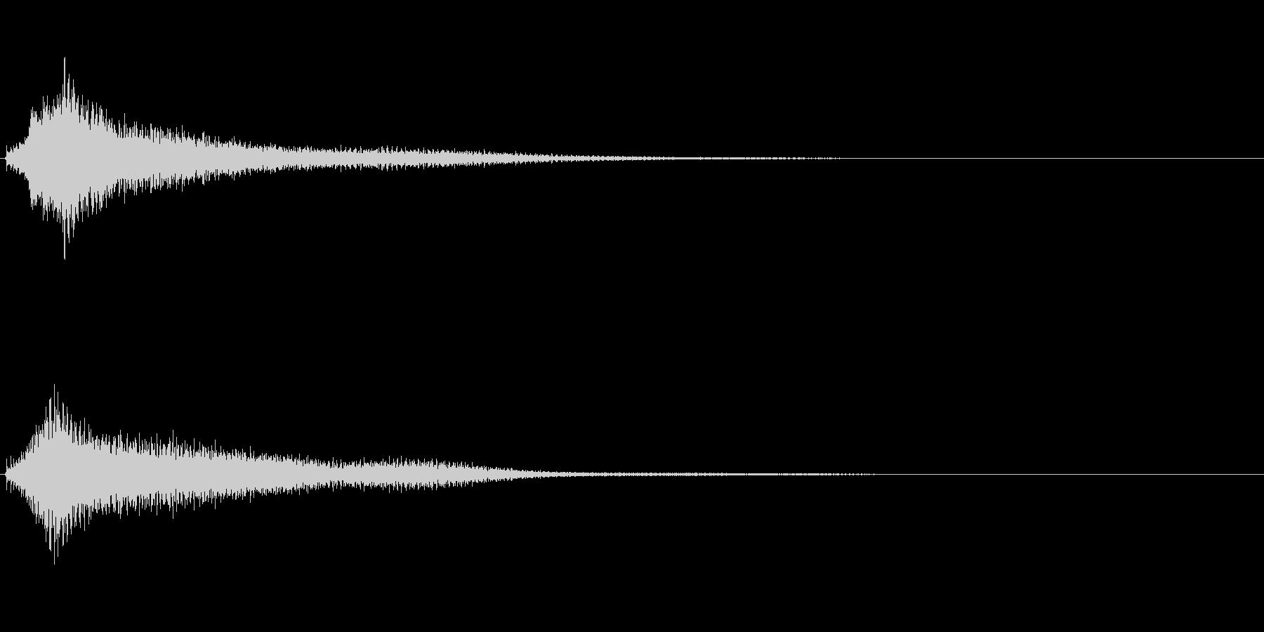サスペンスに最適!ピアノの弦を弄ぶ音2の未再生の波形