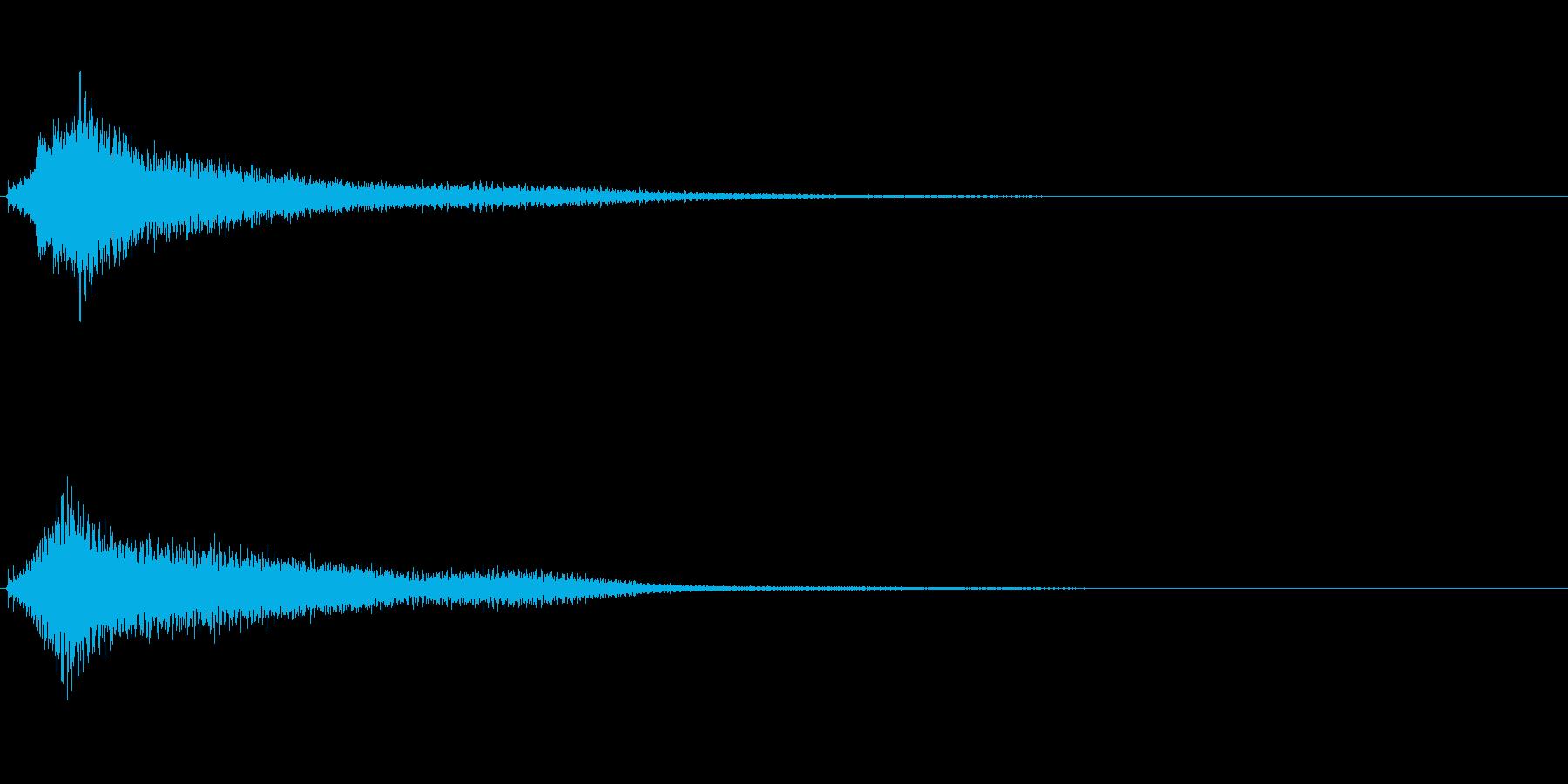 サスペンスに最適!ピアノの弦を弄ぶ音2の再生済みの波形