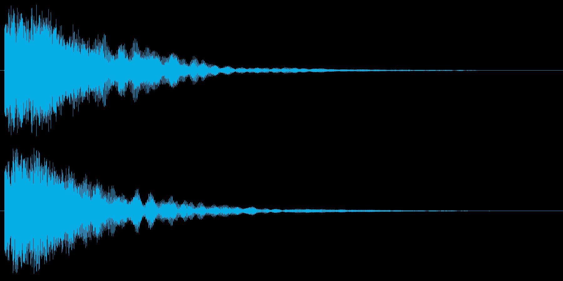 キラーン(体力回復音)の再生済みの波形
