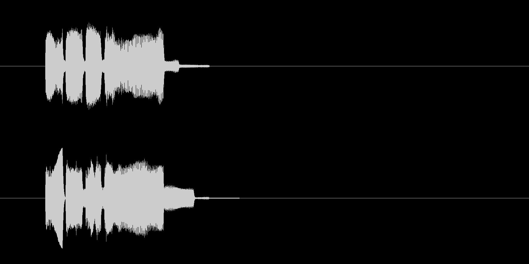 ピンポーン(正解音)の未再生の波形
