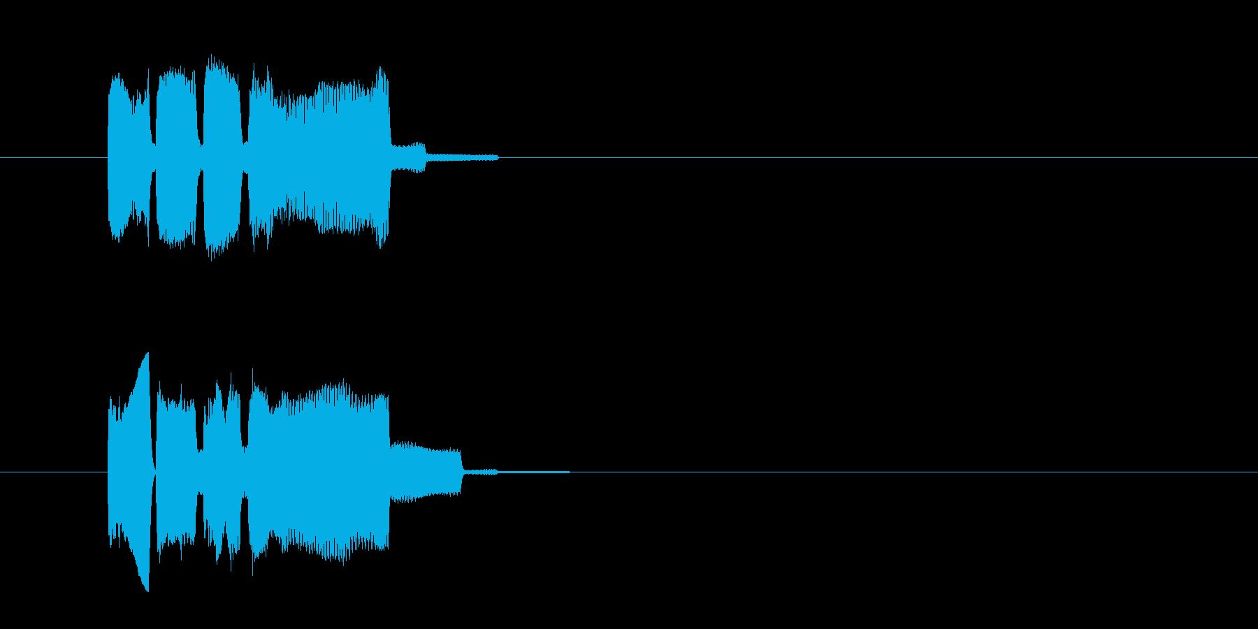 ピンポーン(正解音)の再生済みの波形