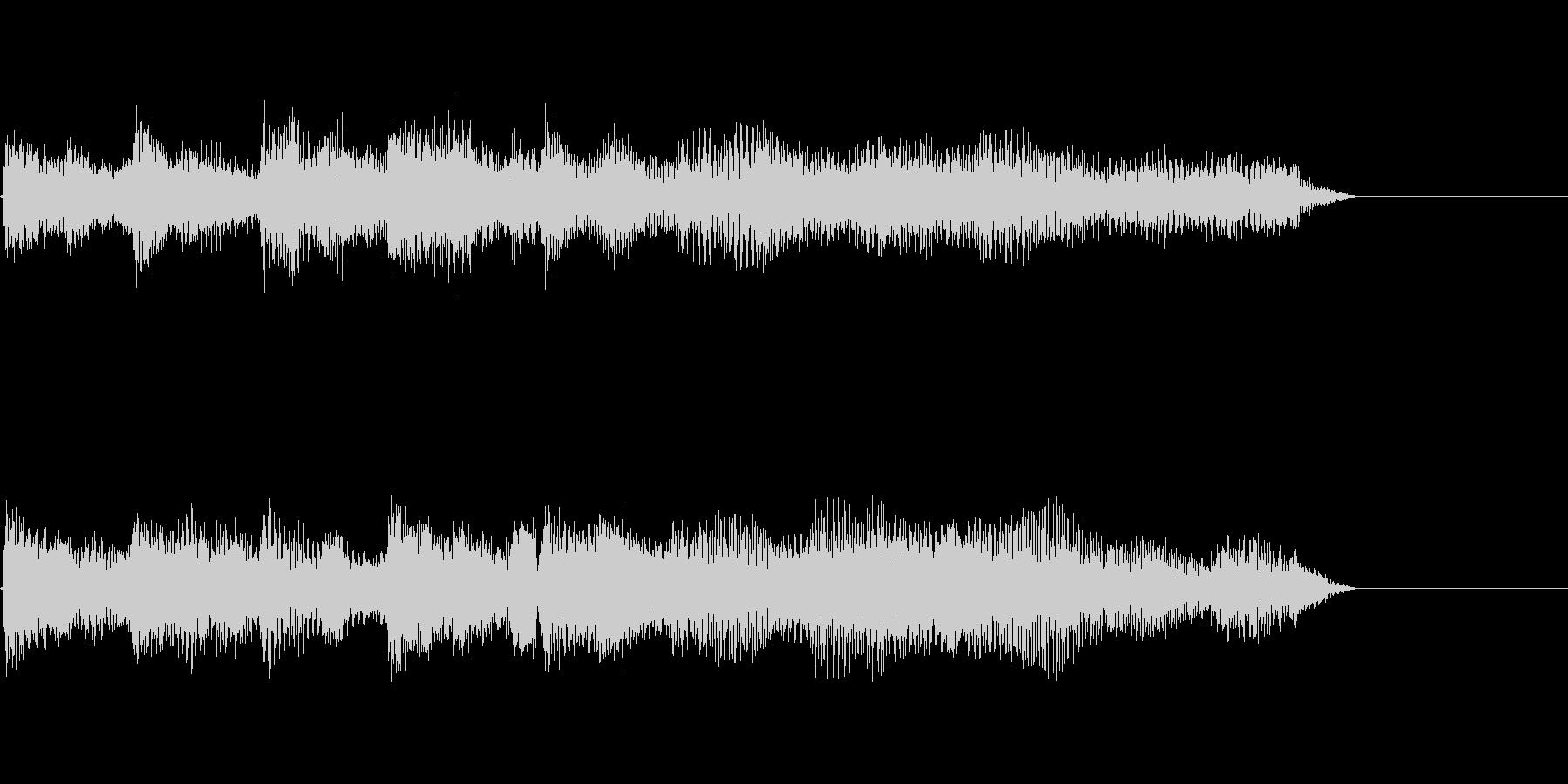 ピアノによるジングル・サウンドロゴ10秒の未再生の波形