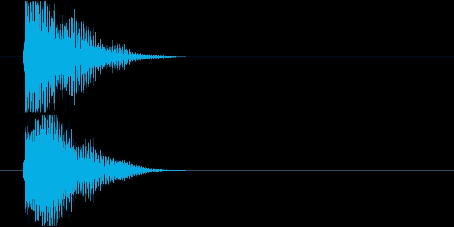汎用_お知らせ音や決定音の再生済みの波形