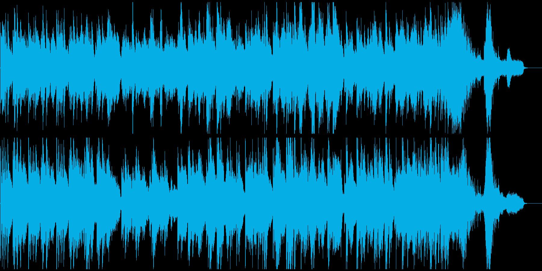 哀愁感漂う悲しい雰囲気のピアノソロの再生済みの波形